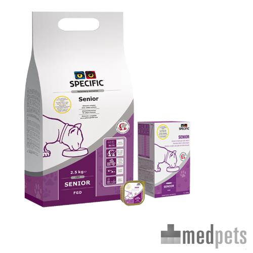 Specific Senior FGD/FGW is de optimale voeding voor de behoeften van de oudere kat.