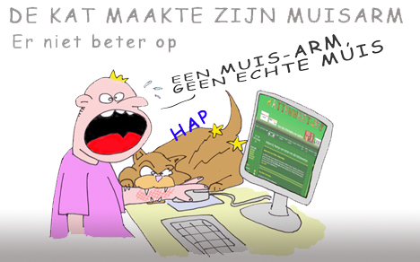 katten weetjes cartoon van de site