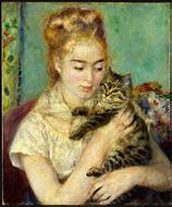 Renoir: women-with-cat