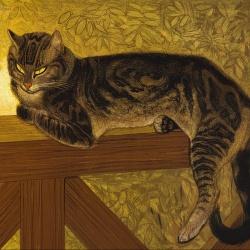 Théophile_Alexandre_Steinlen_-_Summer-_Cat_on_a_Balustrade